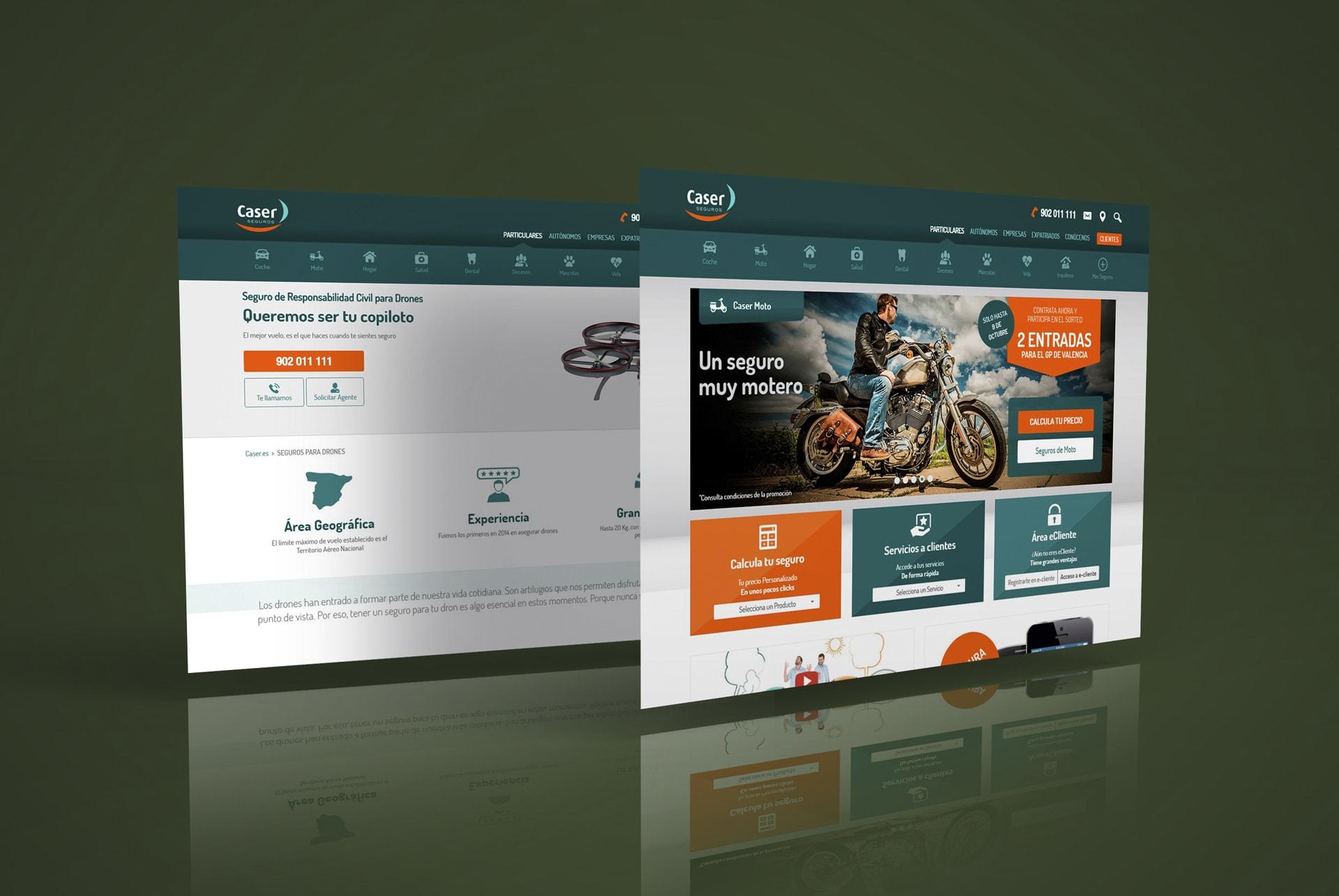 Caser web responsive web design seguros moto, coche. BABEL