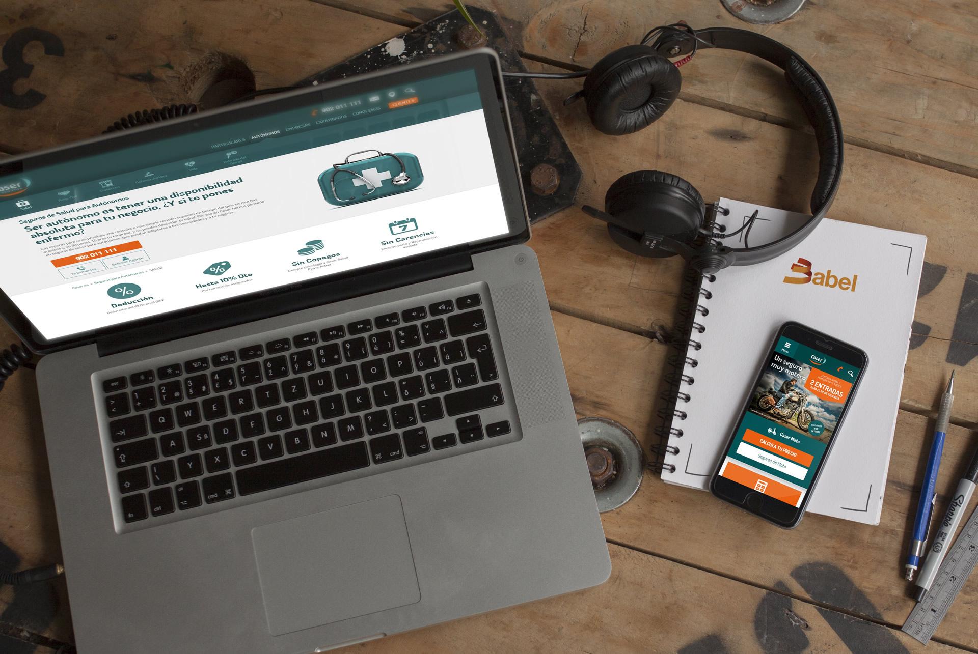 Caser web responsive web design seguros salud desktop. BABEL