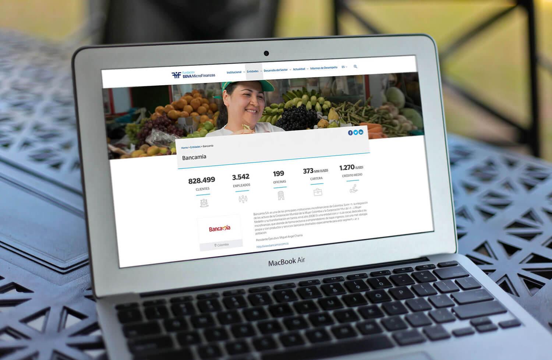 Fundación Microfinanzas BBVA web ux ui babel