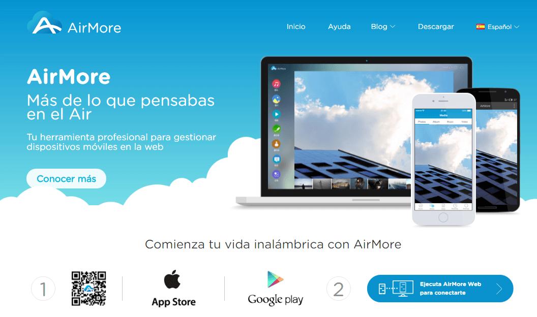 Airmore desde la web