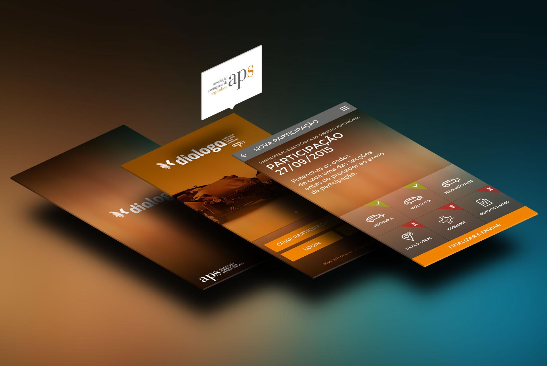 APS portugal. e-segurnet APP Mobile. Parte amistoso de accidentes