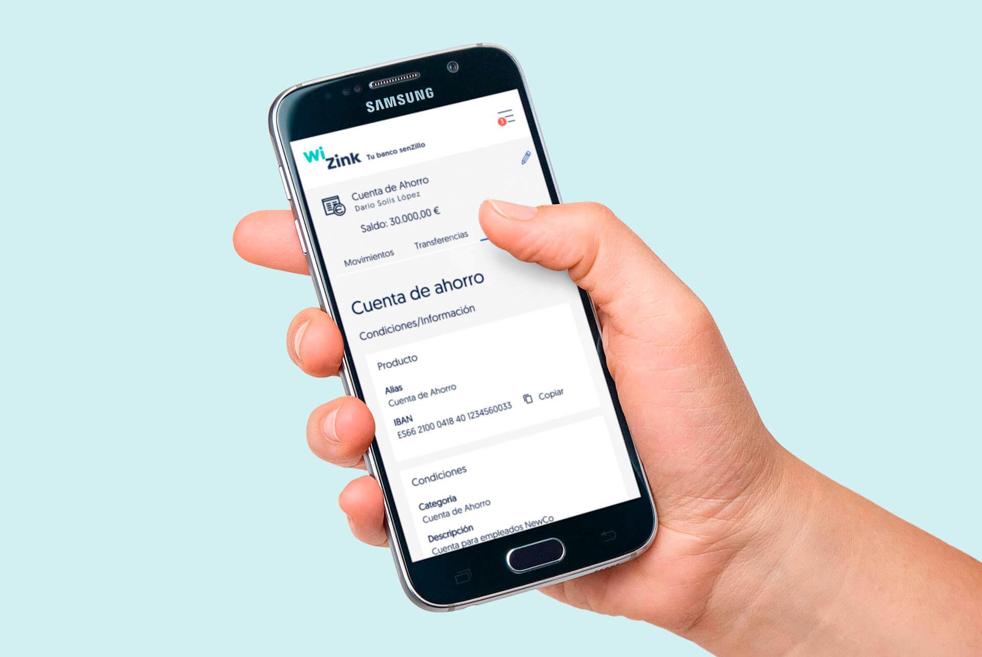WiZink. Conceptualización UX, diseño UI y maquetación front. ILUSTRATIVO MOBILE
