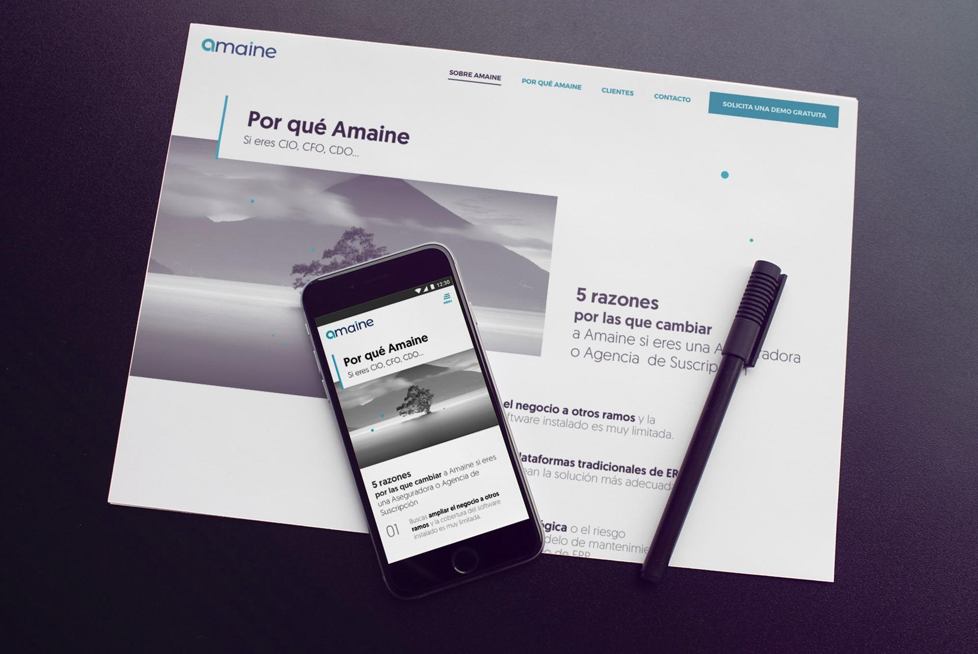 Amaine web reponsive. ERP seguros BABEL