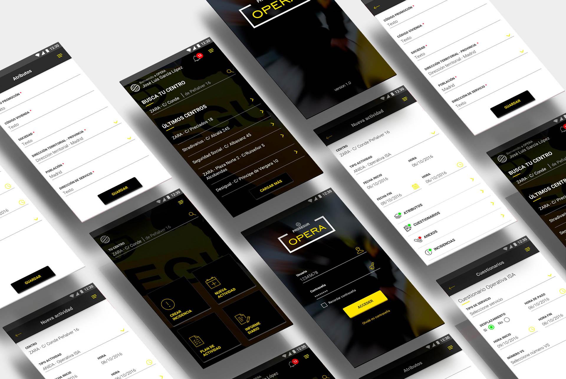 Prosegur. Sistema Opera App BABEL
